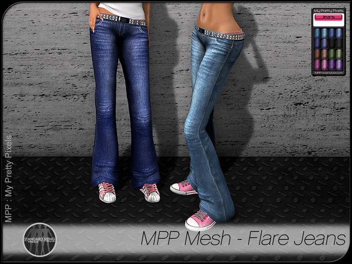 MPP Mesh – Flare Jeans