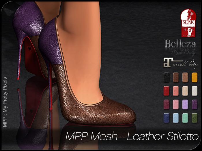 MPP Mesh – Leather Stiletto