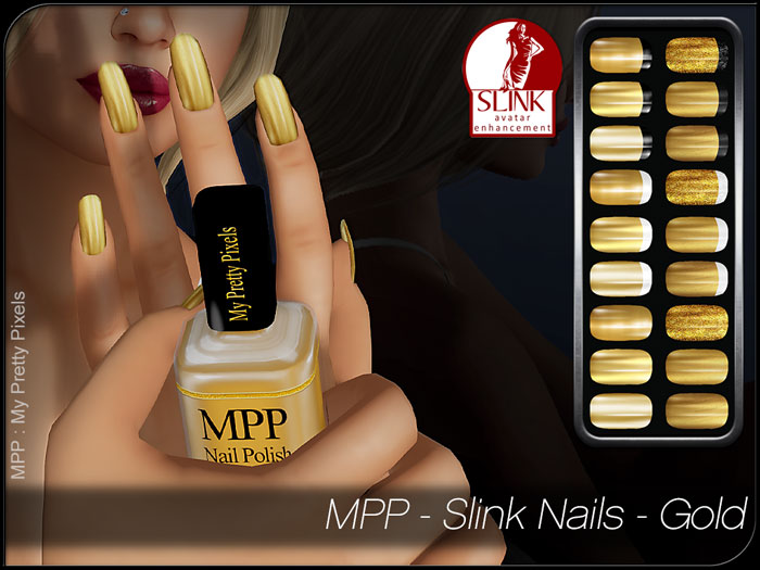 MPP – Slink Nails HUD – Gold & Silver