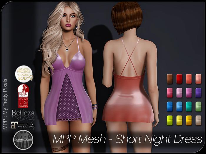 MPP Mesh – Short Night Dress